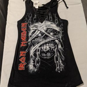 Iron Maiden Lace-Up Tank Top, NWT